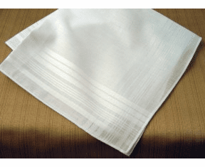 Mens Irish 100% Cotton Classic White Handkerchief