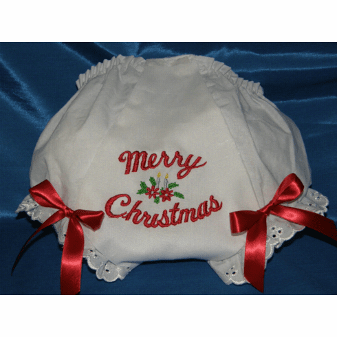 Merry Christmas Holiday Fancy Booty & Bows Diaper Cover Bloomers