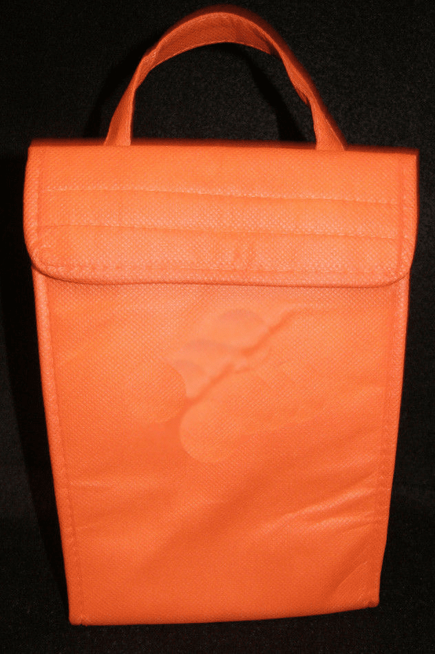 Orange Insulated ECO Lunch Bag Tote Non Woven Polypro