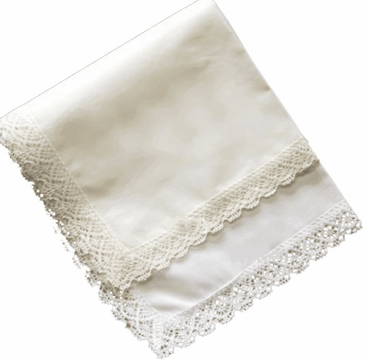 Park Avenue Handkerchief  White or Ivory Personalize with Embroidery