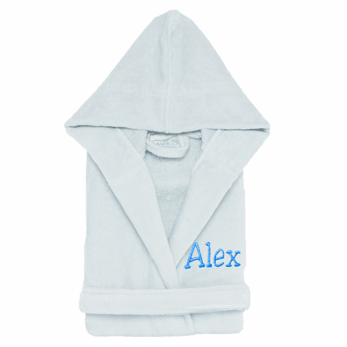 Personalized 100% Cotton Child's Size Terry Velour Robe Sky Blue