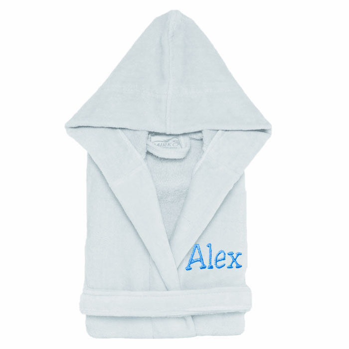 Personalized 100% Cotton Child�s Size Terry Velour Robe Sky Blue