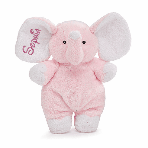 PERSONALIZED Adorable Light Pink Elephant Rattle