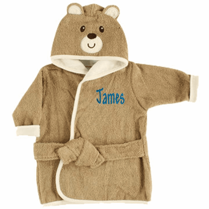 Personalized Baby Bath Robe Teddy Bear Boy or Girl 0-9 Months