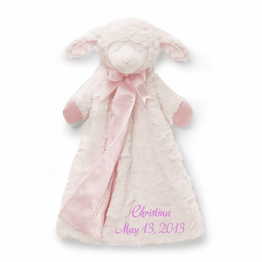 Personalized Baby Gund Girl Winky Snuggly Huggybuddy 4034130