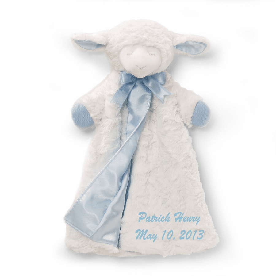 Personalized Baby Gund Winky Blue Lamb Huggybuddy Snuggly 4034141