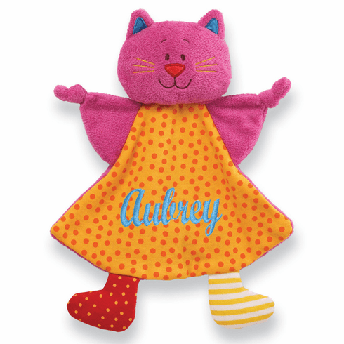 PERSONALIZED Baby Security Snuggly Blankie Gund Missy Meow Kitty