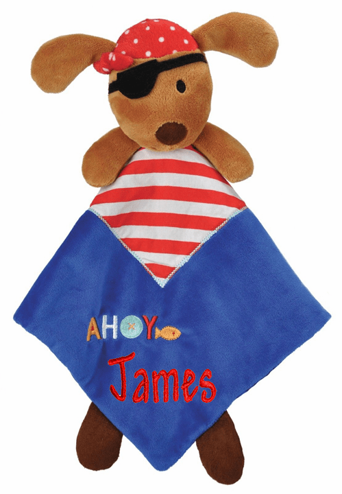 PERSONALIZED Baby Security Snuggly Blankie Pirate Puppy Design