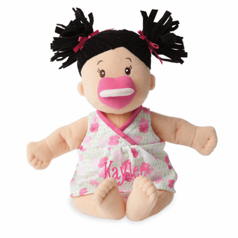Personalized Baby Stella Brunette Soft Baby Doll