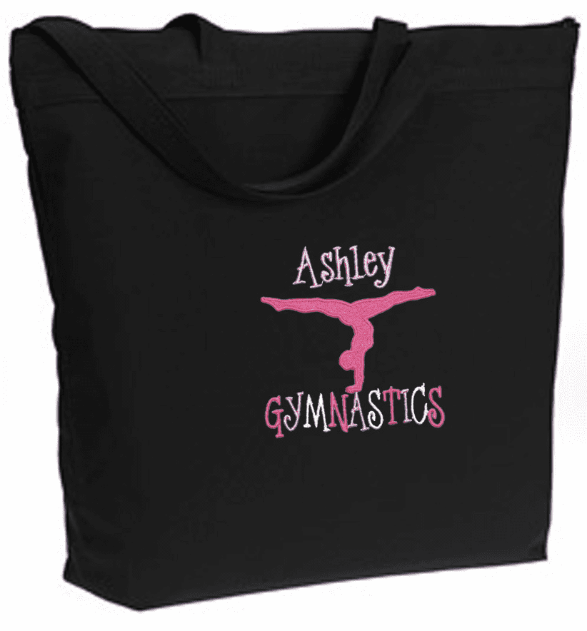 PERSONALIZED Bag Tote Purse Gymnastics Dance Acro Black