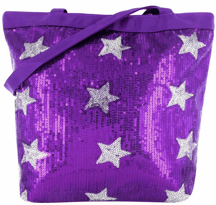 PERSONALIZED Bag Tote Purse Gymnastics Dance Sequin & Stars