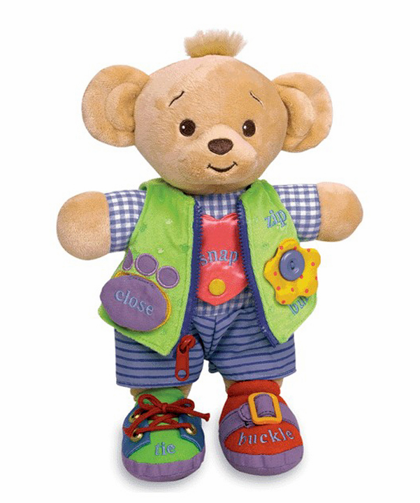 PERSONALIZED Bearamy Bear Learn to Dress Plush Educational Toy