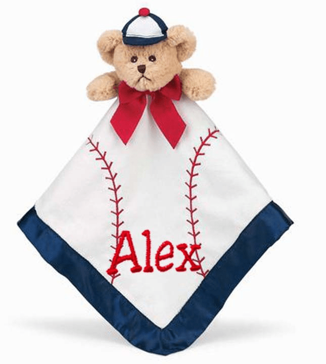 PERSONALIZED Bearington Bears Baby Collection Lil' Slugger Snuggler