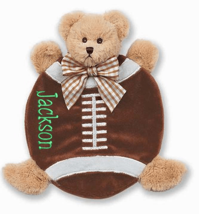 PERSONALIZED Bearington Bears Baby Wee Touchdown Mini Blankie