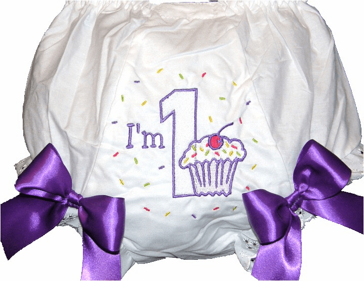 Personalized Birthday Diaper Cover Bloomers I'm One
