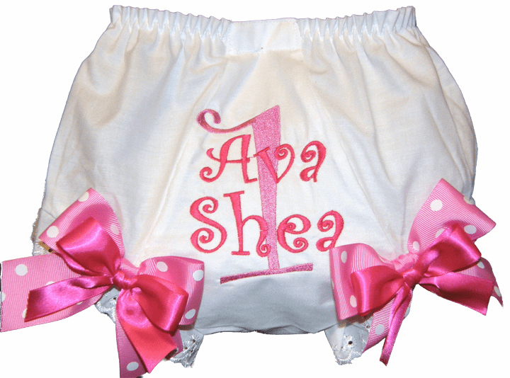 Personalized Birthday Diaper Cover Bloomers Panties Curlz