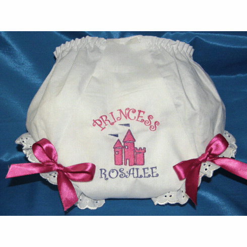 Personalized Birthday Fancy Booty & Bows Diaper Cover Bloomers