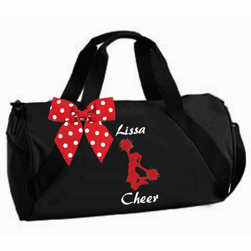 Personalized Black, Purple or Pink Duffel Cheer Design
