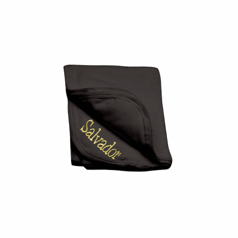 Personalized Black Receiving Blanket 100% Cotton Personalize Me