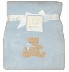 Personalized Blue Plush Fleece Blanket Personalize Embroidery