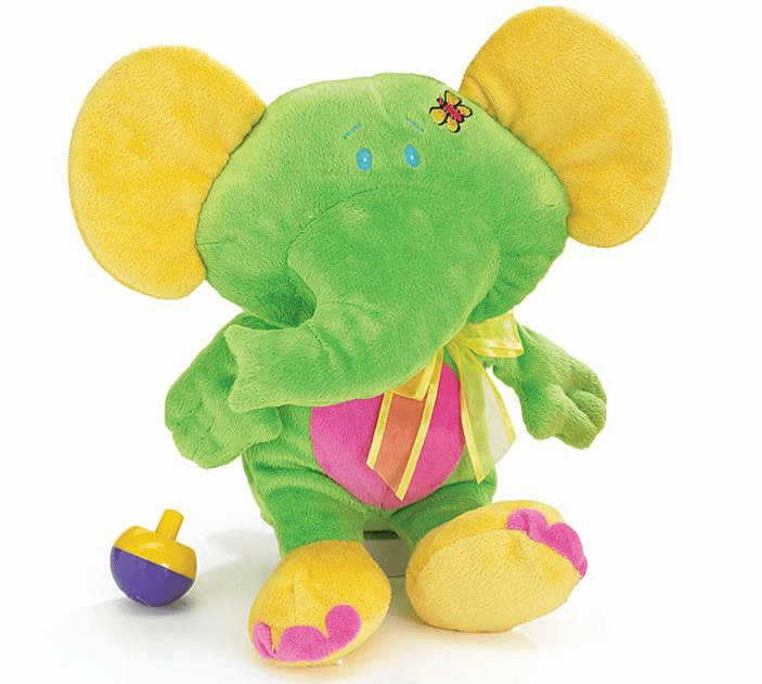 Personalized Bright Colorful Plush Elephant