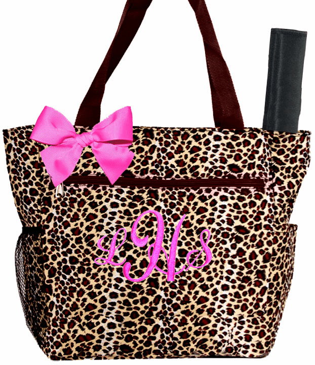 Personalized Browns Cheetah Pattern Diaper Bag w/Changing Pad