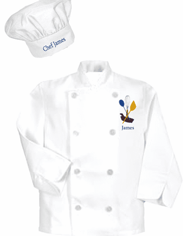 Personalized Chef Jacket & Hat Sets