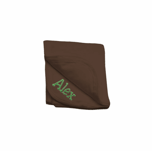 Personalized Chocolate Brown Receiving Blanket 100% Cotton Personalize Me