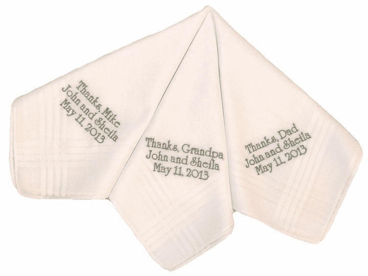 Personalized Custom Gentelman's Wedding Handkerchiefs