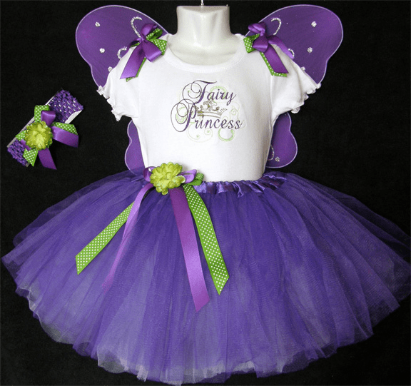 Personalized Custom Made Birthday Tutu Purple Fairy Princess