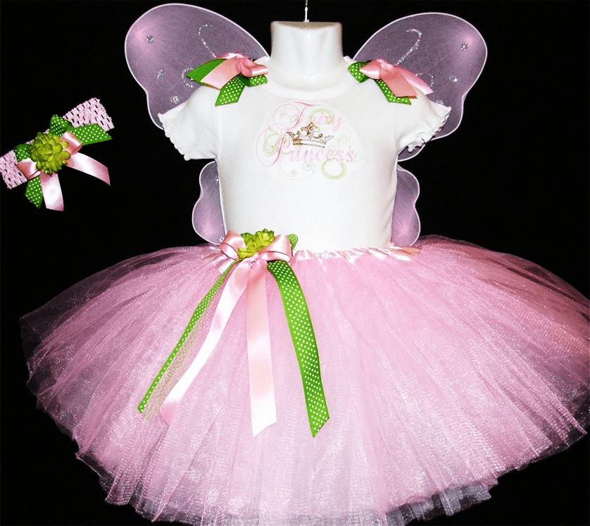 Personalized Custom Made Pink Fairy Princess Tutu Outfit