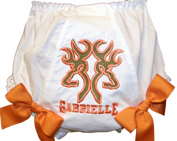Personalized Diaper Cover Bloomers Hunters Design