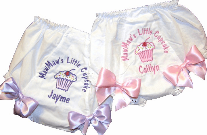 Personalized Diaper Cover Bloomers Mommies Cupcake