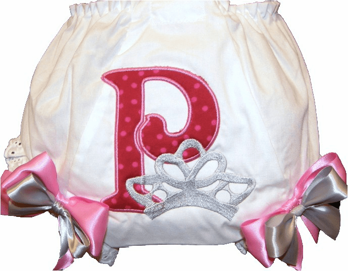 Personalized Diaper Cover Bloomers Princess Large Crown Fancy Momogram