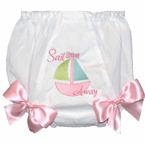 Personalized Diaper Cover Bloomers Sail Away Sailboat