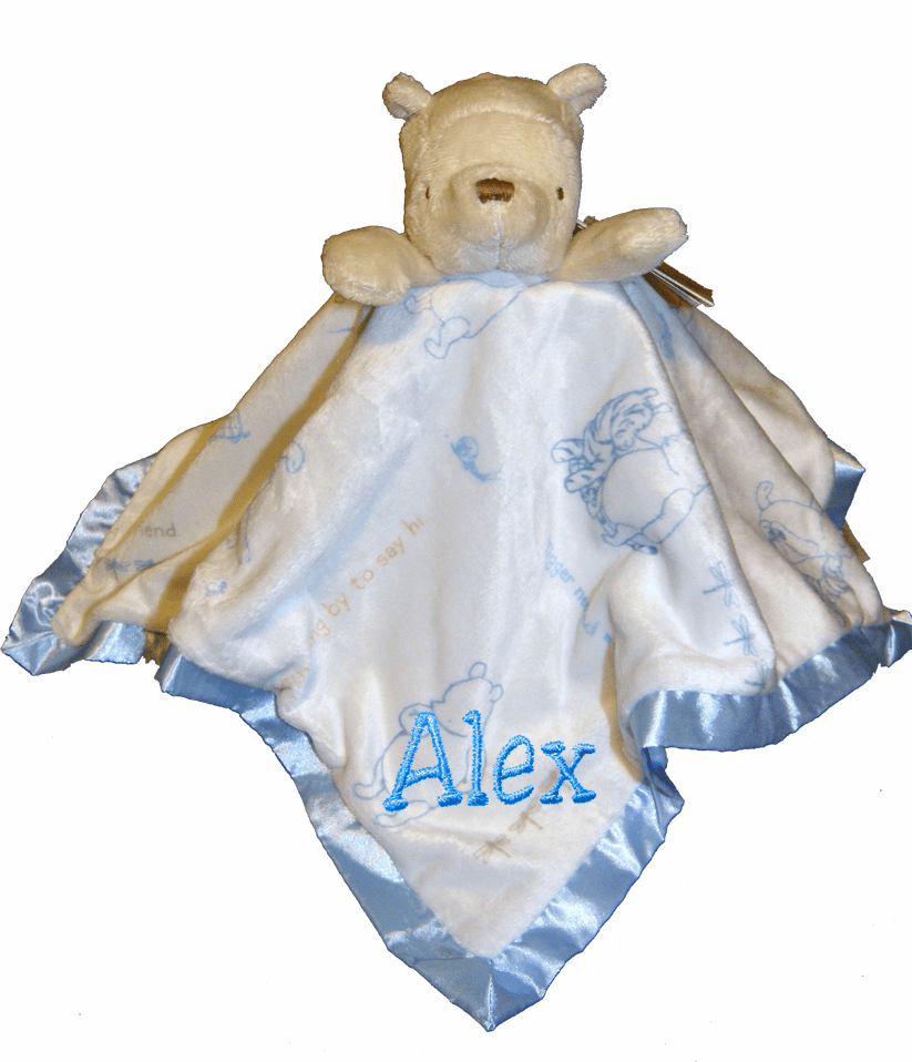 Personalized Disney's Classic Pooh Bear Soft Security Blanket Gift