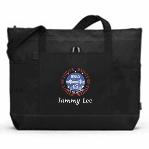 Personalized EBA Black All Purpose Large Tote