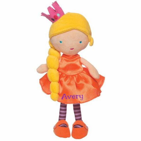 Personalized Embroidered Jellybeans Princess Soft Fabric Cloth Doll