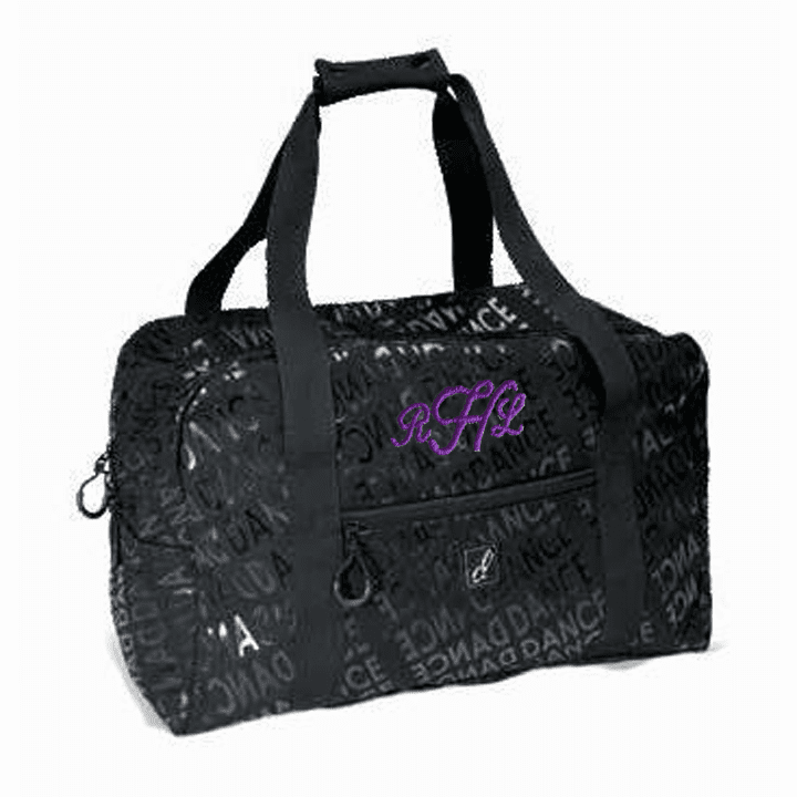 Personalized Embroidered Large Black Dance Team Gear Duffel Bag