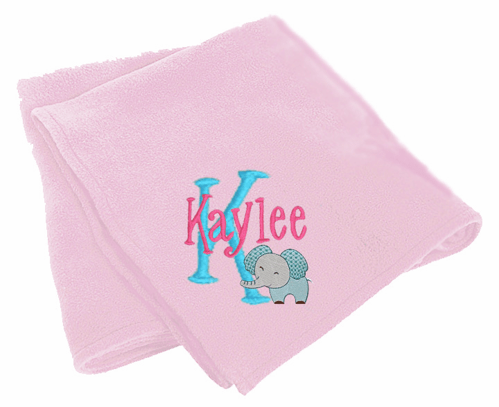 Personalized Embroidered Tahoe Super Soft Microfleece Baby Blanket Many Colors