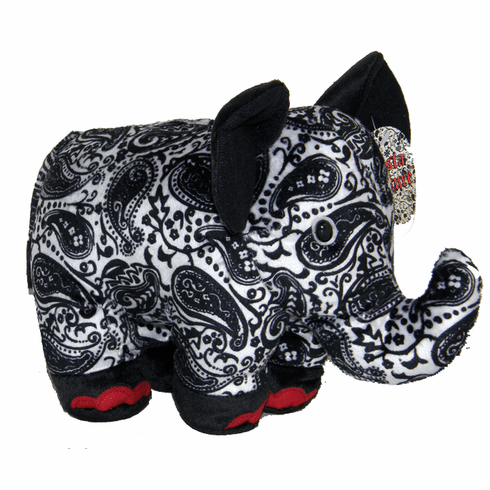 PERSONALIZED Fiesta Couture Paisley Pattern Black & White Elephant