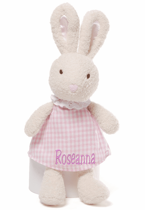 "PERSONALIZED Gund Soft Mini Meadow Series Begonia Bunny 9"" Tall"