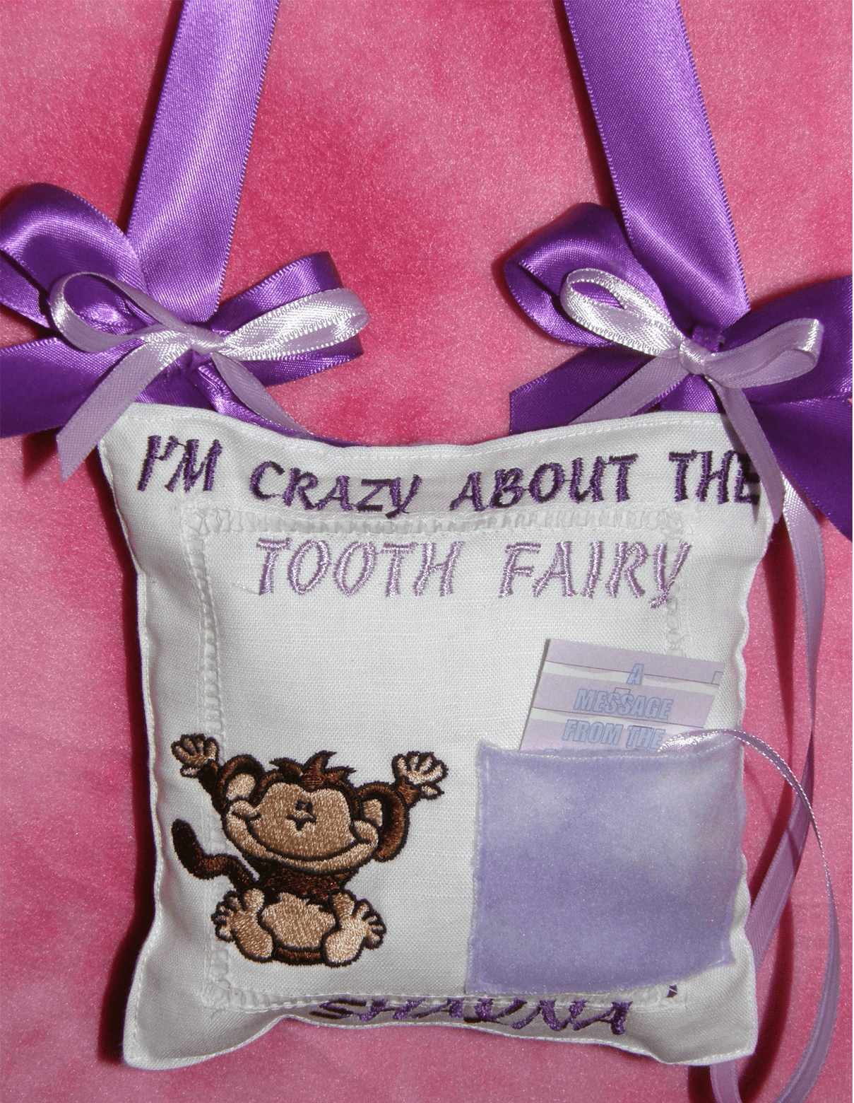 Personalized Handmade Tooth Fairy Pillow