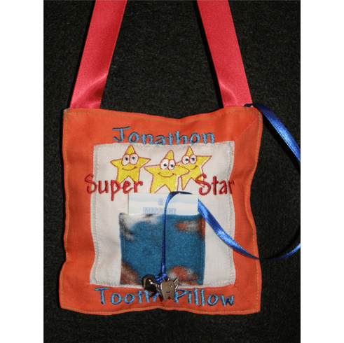 Personalized Handmade Tooth Fairy Pillow Sports Super Star