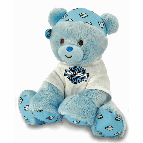 "PERSONALIZED Harley Davidson ""Rivet"" Blue Boy Bear 20318"