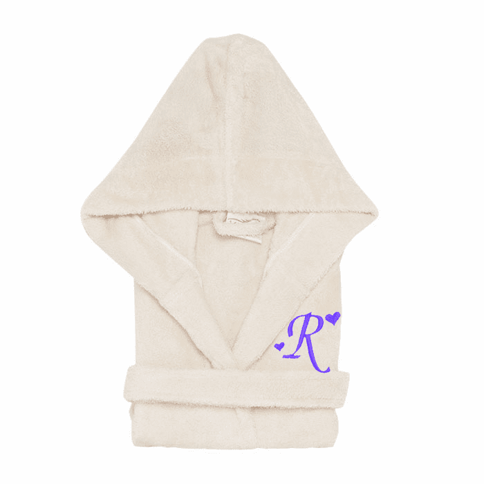 Personalized Hooded Terry Cloth Children�s Robe Beige