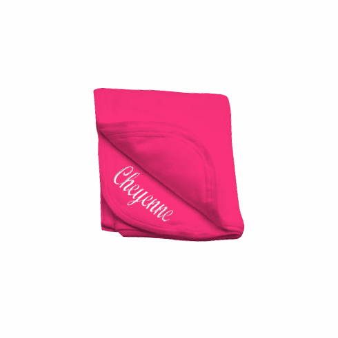 Personalized Hot Pink Receiving Blanket 100% Cotton Personalize Me