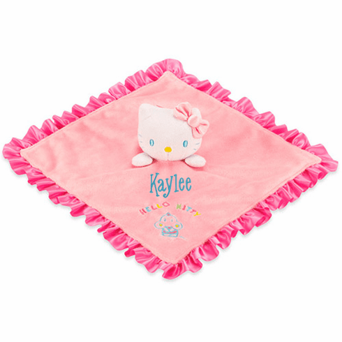 PERSONALIZED Infant Baby Security Snuggle Blankie Sanrio Hello Kitty