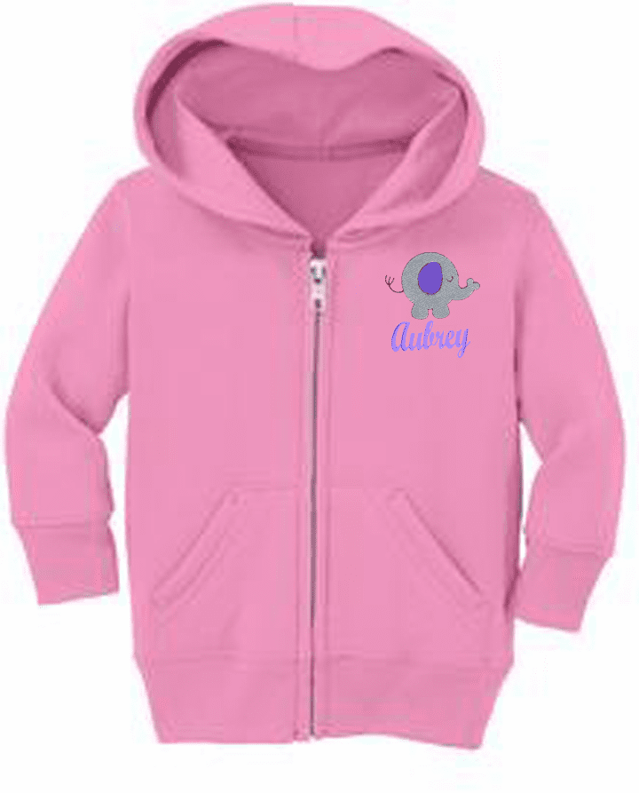 Personalized Infant Size Full Zip Hooded Sweatshirt Plump Pets Design