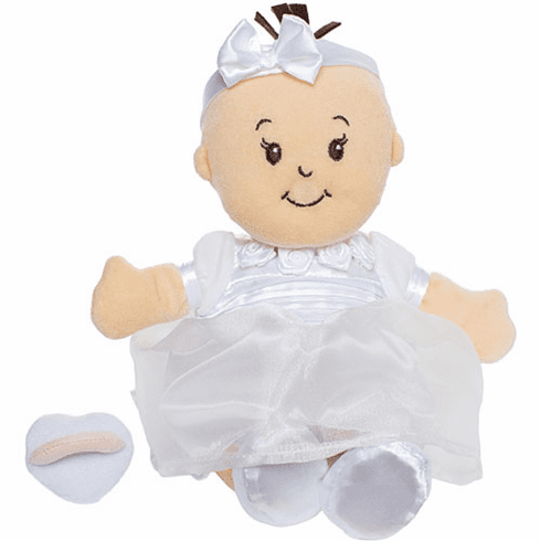 "Personalized ""It's My Party"" Birthday Baby Doll in White Party Dress"